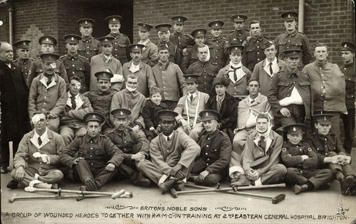 Britons Noble Sons ,a group of wounded heroes together with R.A.M.C in training at Eastern General Hospital Brighton