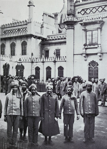 Indian Soldiers in Brighton Pavilion Grounds