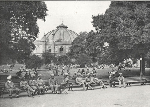 In the Gardens; Dome in Background