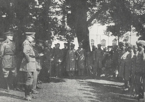 Lord Kitchener Addressing Indian Officers