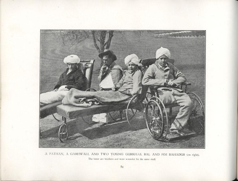 A Pathan, A Garhwall, and Two Young Gurkhas, Bal and Pim Bahadur
