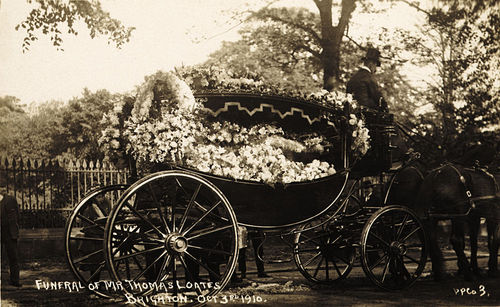 Funeral of Mr Thomas Loates, Brighton, Oct 3rd 1910