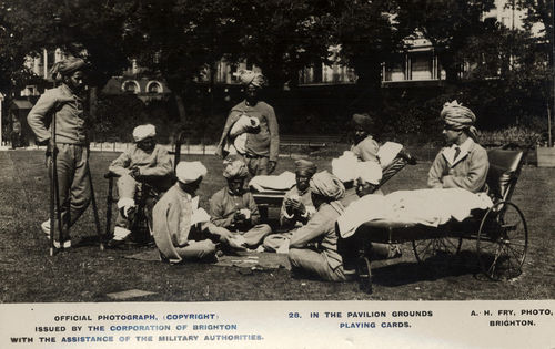 28. In the Pavilion Grounds Playing Cards
