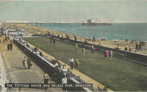 The Putting Green and Palace Pier, Brighton