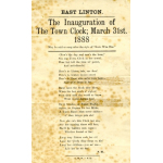 Thumbnail image for INAUGURATION OF THE TOWN CLOCK, EAST LINTON