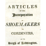 Thumbnail image for ARTICLES OF THE INCORPORATION OF SHOEMAKERS OR CORDINERS OF THE BURGH OF HADDINGTON