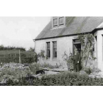 Thumbnail image for MR AND MRS GORDON OUTSIDE THEIR SMALLHOLDING AT BALLENCRIEFF, ABERLADY