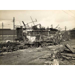 Thumbnail image for Birmingham Corporation Tram Depot, Oldbury Road, Smethwick: Burnt out tram