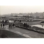 Thumbnail image for Thimblemill Brook, Warley: people standing on and near the dam walls
