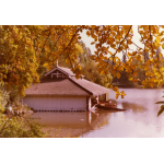 Thumbnail image for The Boathouse and Lake, Walsall Arboretum