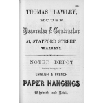 Thumbnail image for Various Advertisements taken from the 1875 Walsall Red Book