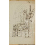 Thumbnail image for Pen and wash: Study of St Albans Abbey interior