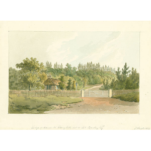 Lodge entrance to Bury Hill, seat of Rob Barclay Esqr