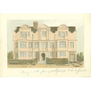 Unidentified Tudor brick house of De La Zouche family