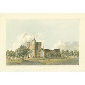 S W view of Farnham Church