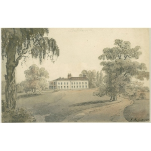 Watercolour painting endorsed 'Upper Betchworth House, the seat of Councillor Kendrick'. Signed John Hassell