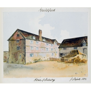Watercolour of the House of Industry, Guildford