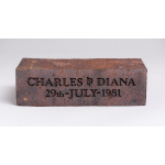 Thumbnail image for Royal wedding (Charles and Diana, 1981) souvenir: Betrothal 'Charles & Diana' brick