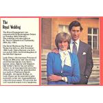 Thumbnail image for Royal wedding (Charles and Diana, 1981) souvenir: postcard 'The Royal Wedding'