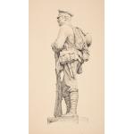 Thumbnail image for Original Drawing for Bronze Memorial at Heath Town