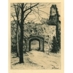 Thumbnail image for Old Gateway, Rushall, Walsall from Remnants Of Old Wolverhampton (Vol.I. 1880. No.s 1-37)