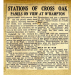 Thumbnail image for Express and Star News Article: c1946: Stations of the Cross exhibition