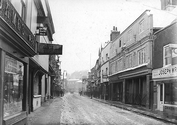 High Street looking towards Town Hall, taken in 1903  Photographic Survey and Record of Surrey no. 6953