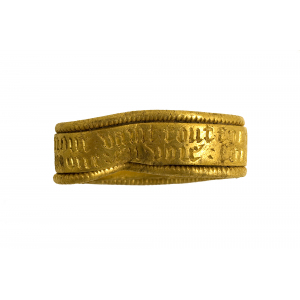 15th-century, medieval, gold finger ring