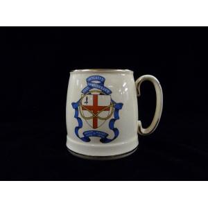 Earthenware commemorative mug