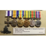 Thumbnail image for group of six medals (MC,BWM,AVM,TFWM,DM,WM) awarded to Major H P Morgan, 1/1 Shropshire RHA, 1914-45