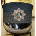 Thumbnail image for officer's pattern with peak, green, black oakleaf lace band, gilt embroidery on peak, cap badge silver star, brass band and silver bugle