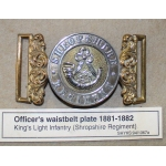 Thumbnail image for male : silver bugle and KLI; female : circlet with SHROPSHIRE REGIMENT